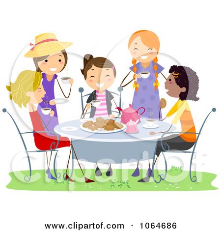 Ladies Tea Party Clipart.