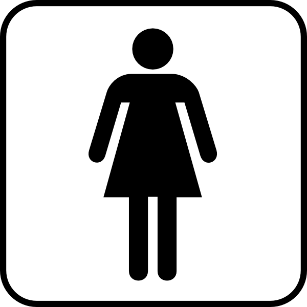 Ladies Room clip art Free Vector / 4Vector.