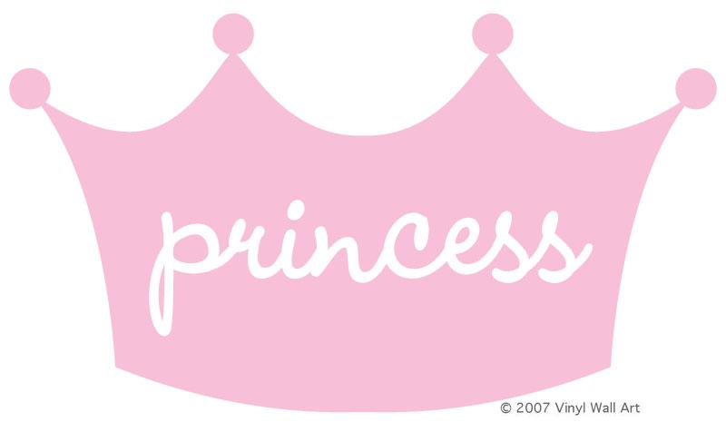 Pink baby girl princess crown clipart.