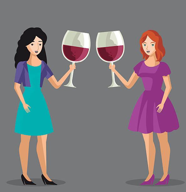 Best Woman Drinking Wine Illustrations, Royalty.