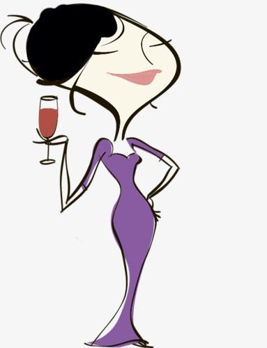 Ladies drinking wine clipart 5 » Clipart Portal.