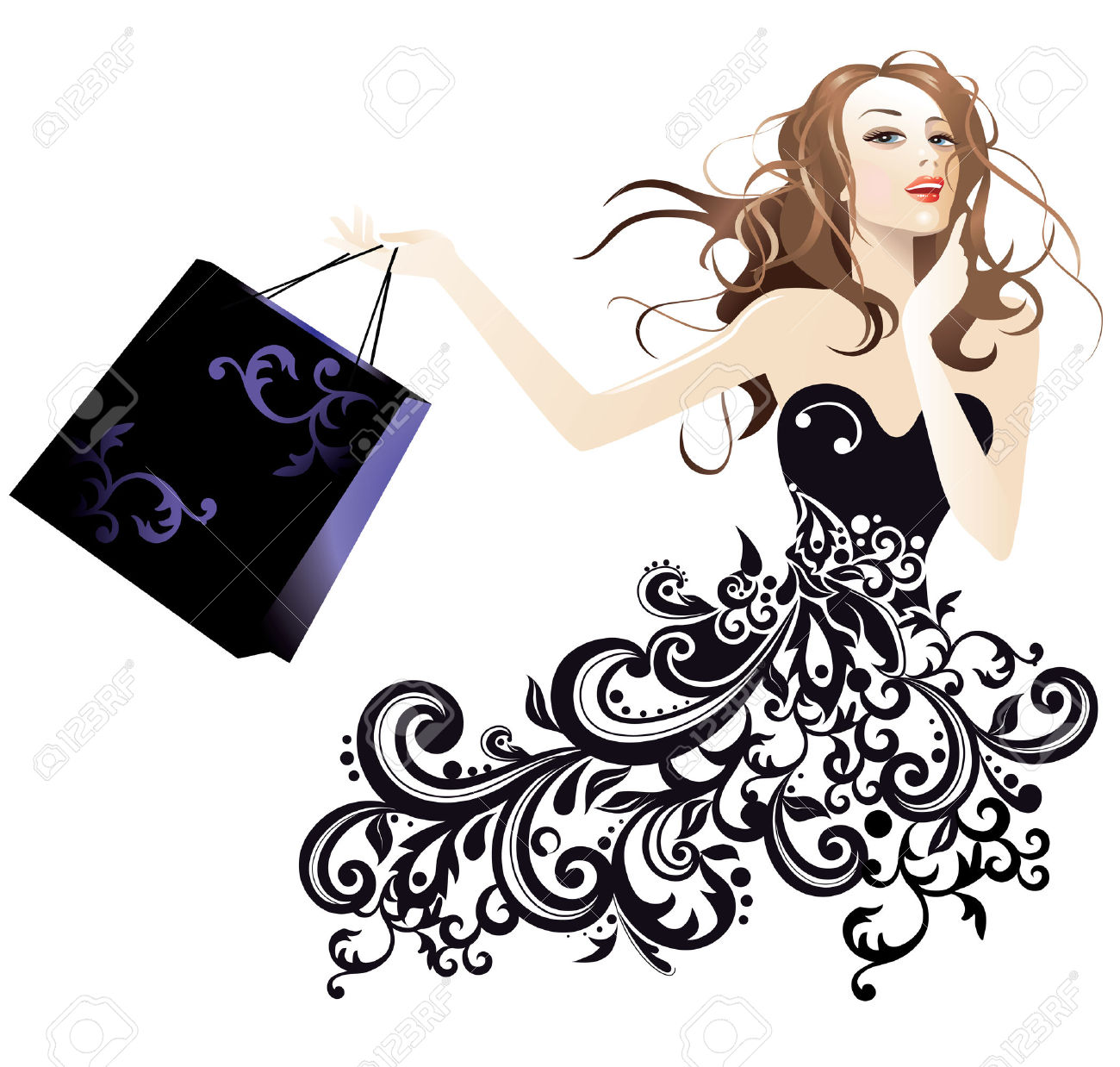 Ladies fashion clipart 8 » Clipart Station.