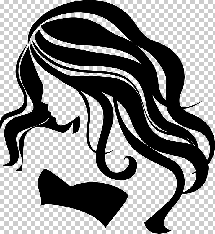 Girl , Beauty hair silhouettes, woman sketch PNG clipart.