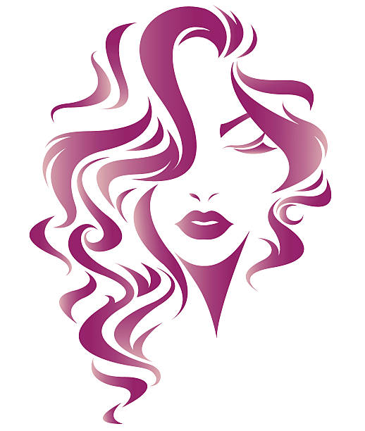 Women Long Hair Clipart.