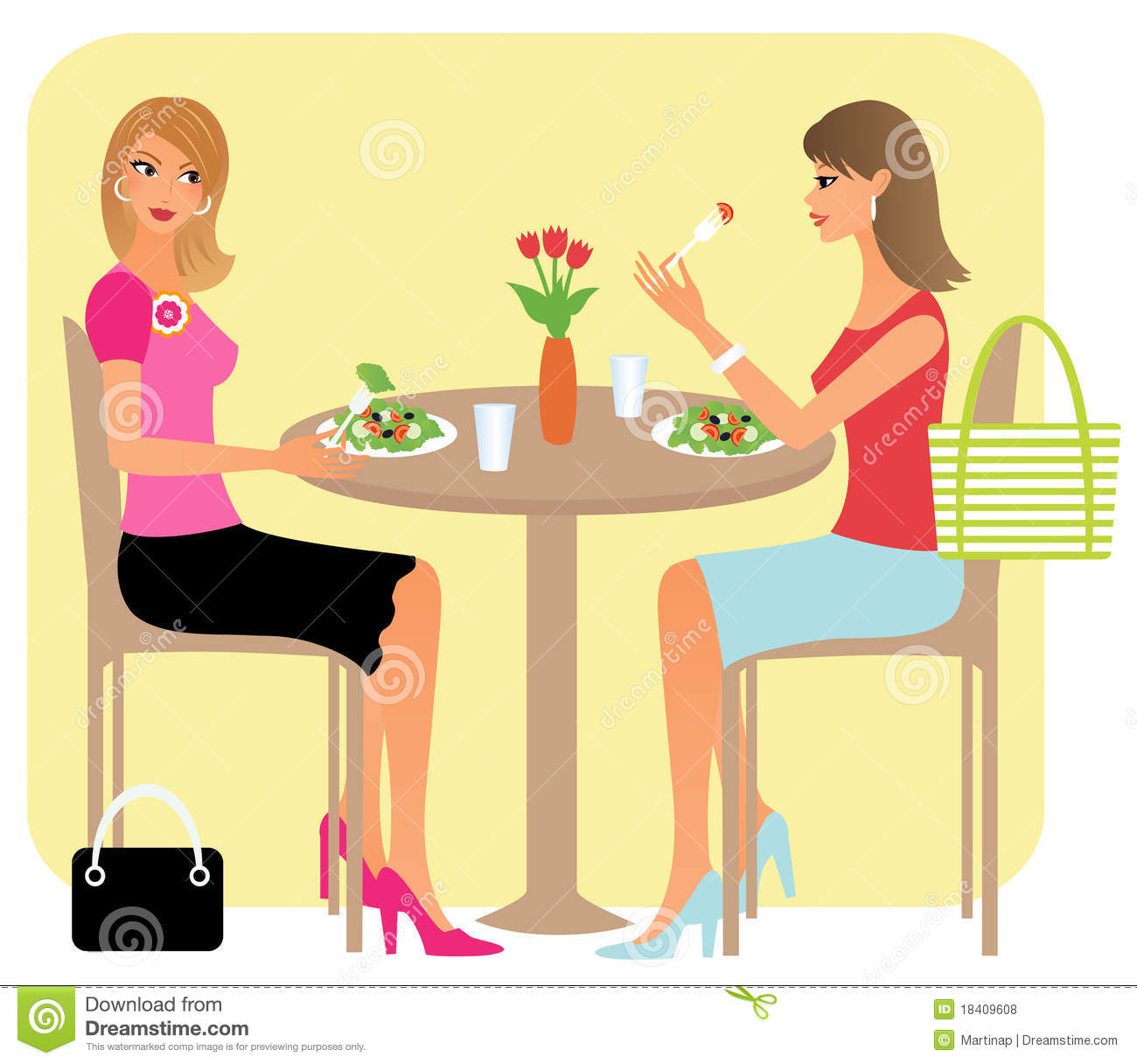 Girls Lunch Clipart.