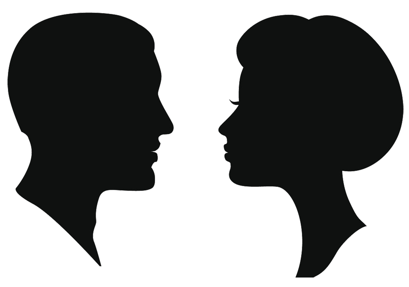 Silhouette Female Man Clip art.
