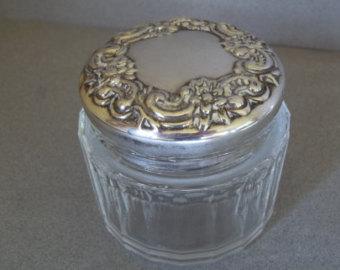 Vintage powder jar.