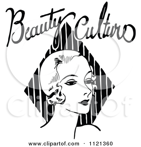 Clipart Vintage Black And White Powder Box.