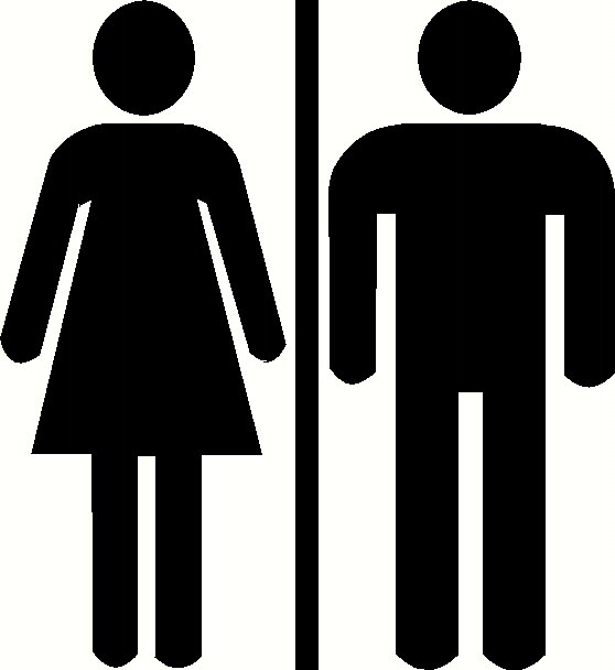 Men Women Bathroom Sign Clipart.