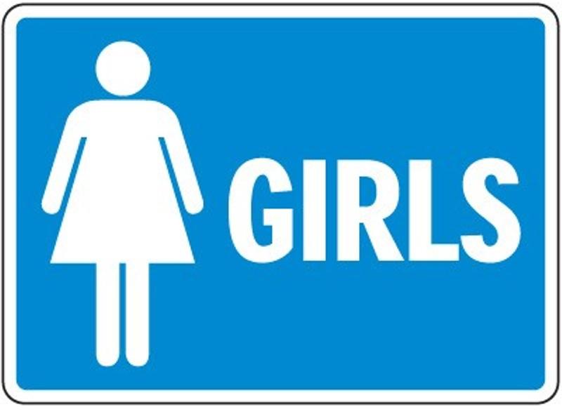 Clipart ladies toilet sign.