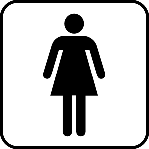 Ladies restroom clipart.