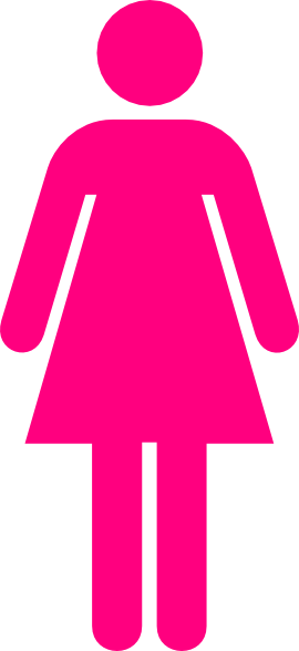 Ladies Bathroom Symbol Hot Pink Clip Art at Clker.com.