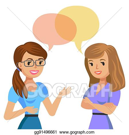 Two women talking clipart 8 » Clipart Station.
