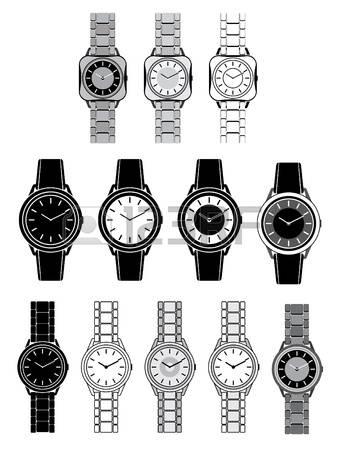 4,318 Ladies Watch Stock Vector Illustration And Royalty Free.