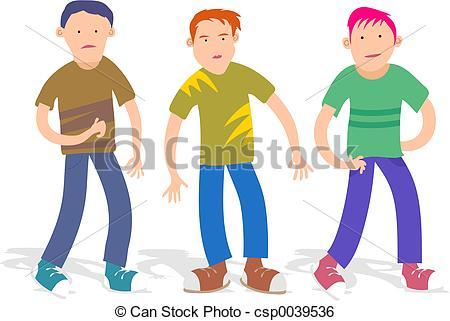 Stock Illustration of Boys.