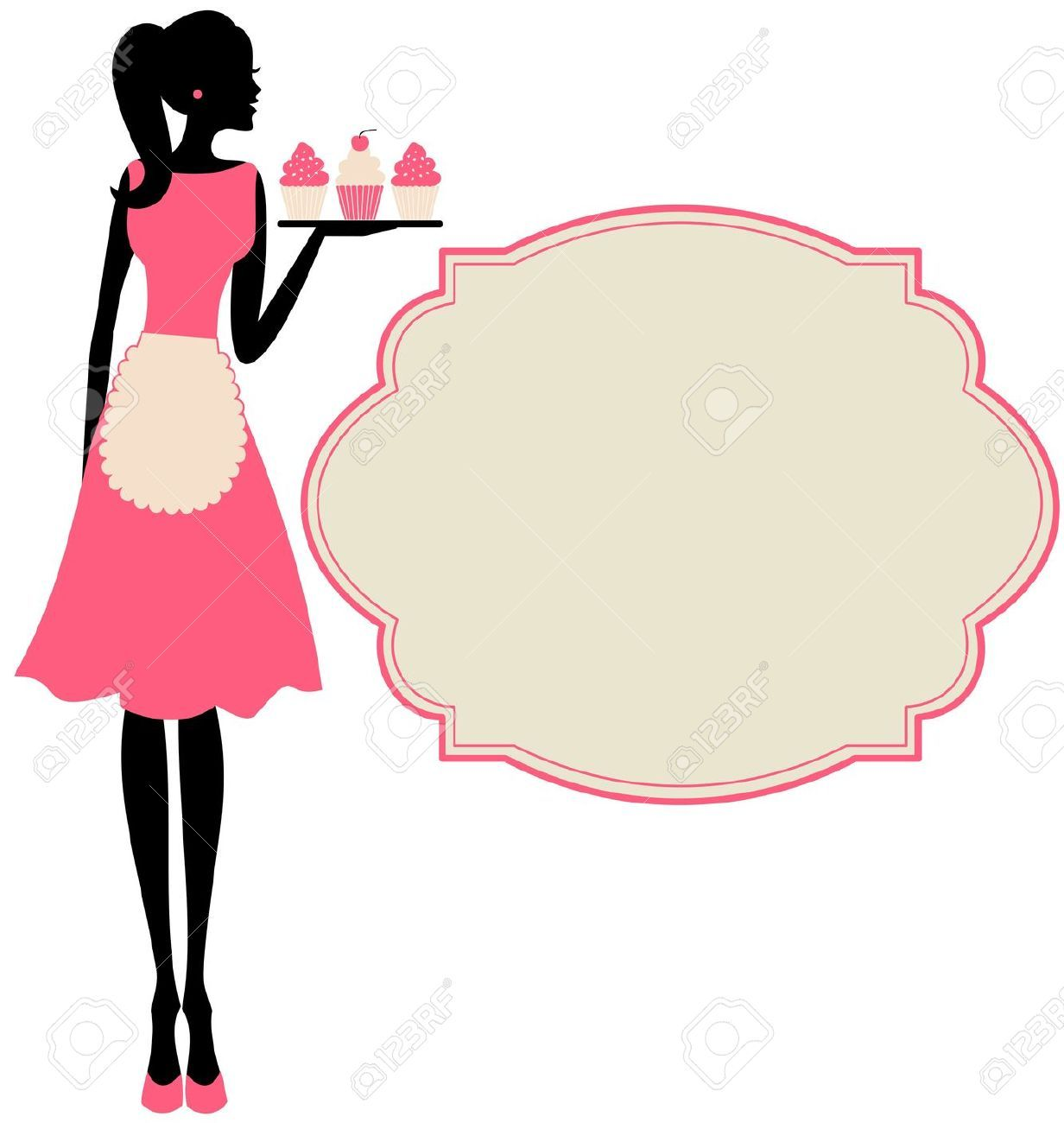 Woman Apron Cliparts, Stock Vector And Royalty Free Woman Apron.