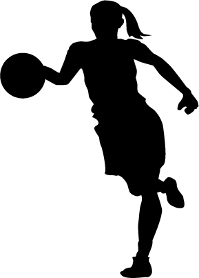 Lady Basketball Player Silhouette.