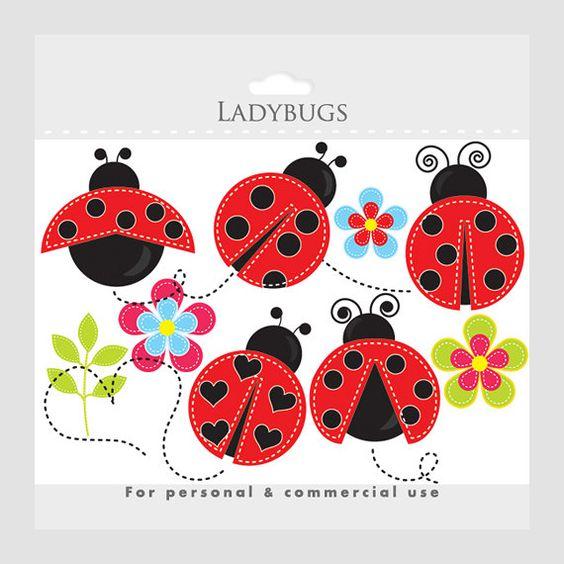Ladybug clipart.