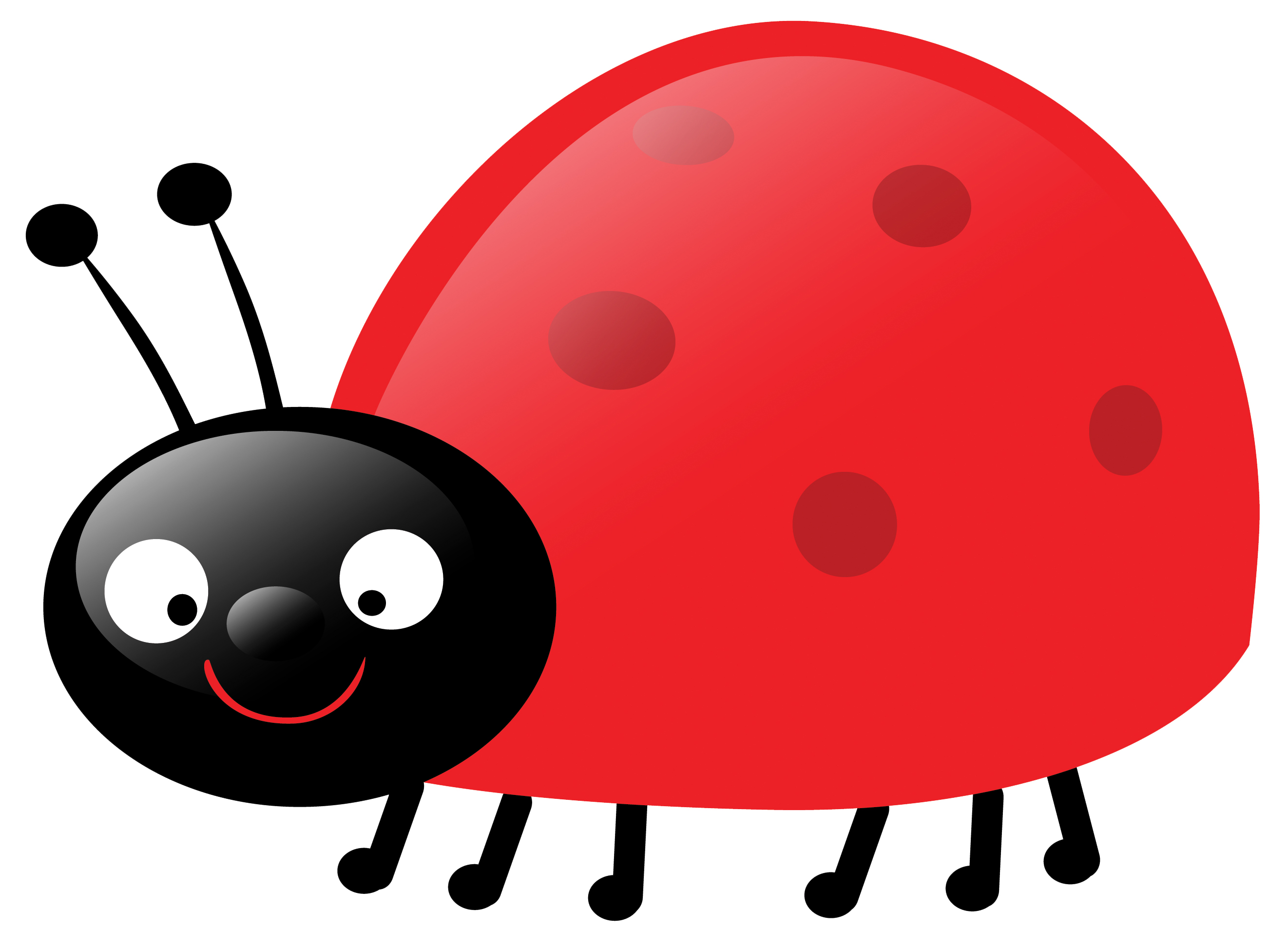 Ladybug Clipart Black And White.