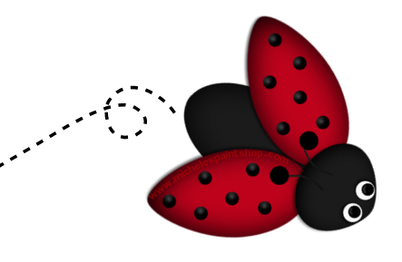 Clipart images of lady bugs.