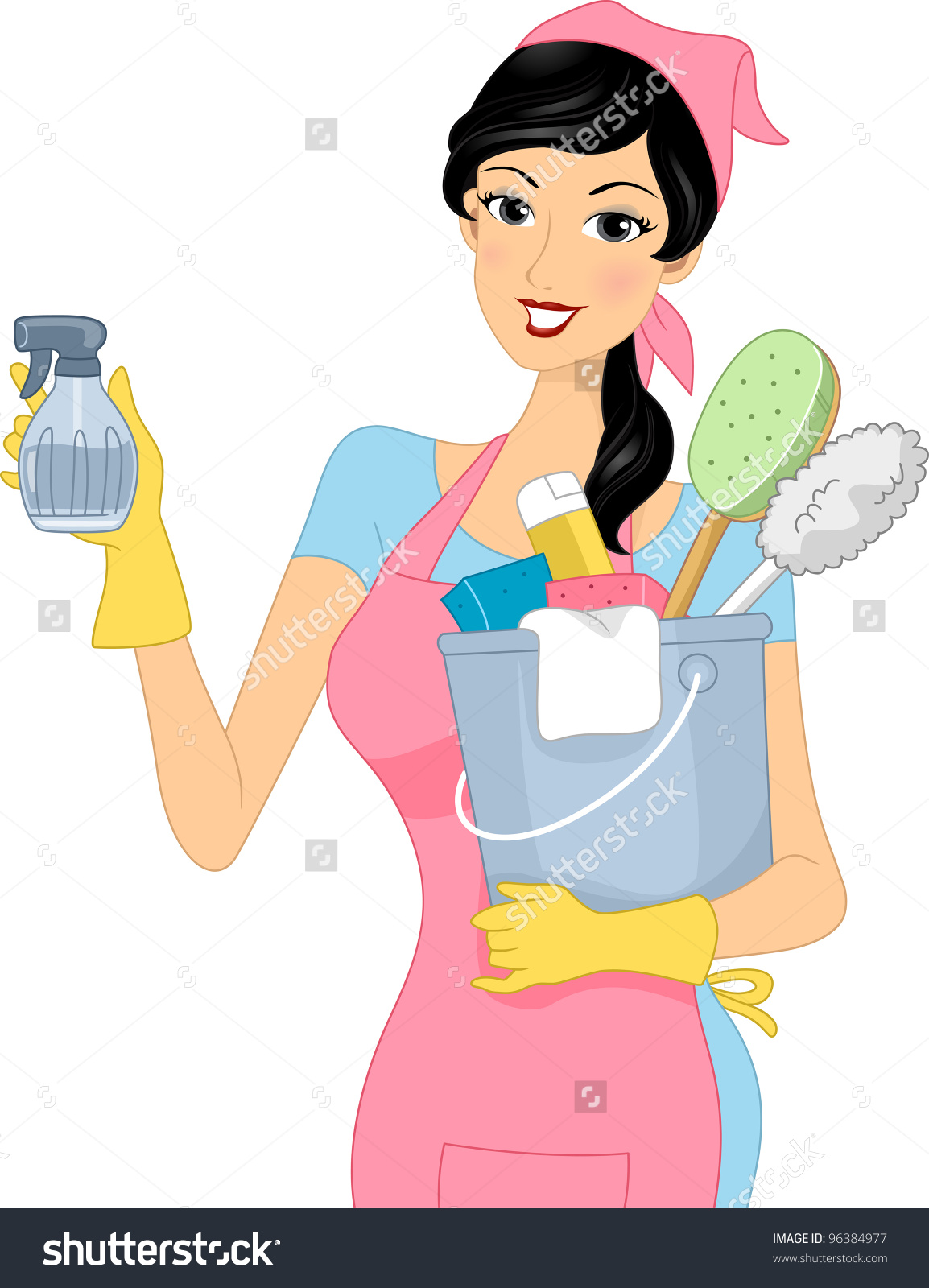 Woman Cleaning Vector at GetDrawings.com.