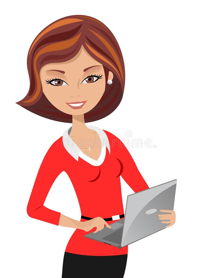 Lady clipart employee.
