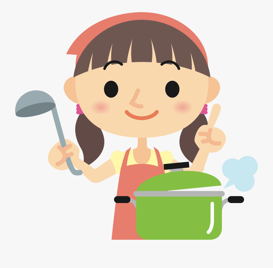 Transparent Woman Cooking Png.