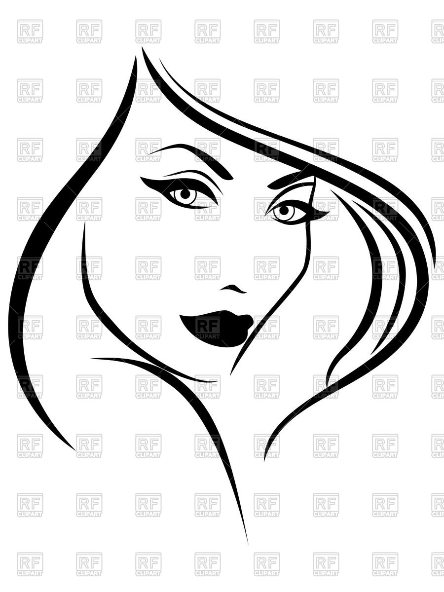 Fashion Lady Face Clipart.