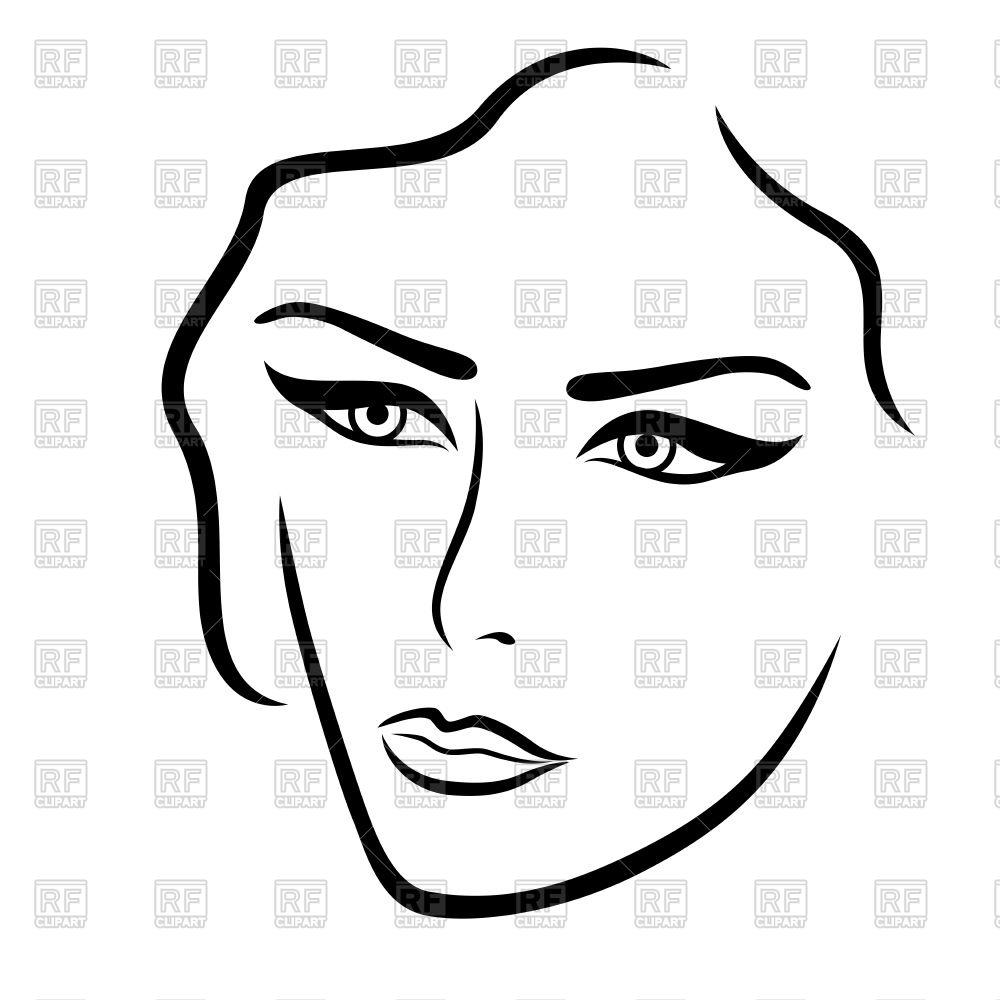 Lady face clipart 5 » Clipart Station.