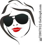 Lady Face Clip Art.