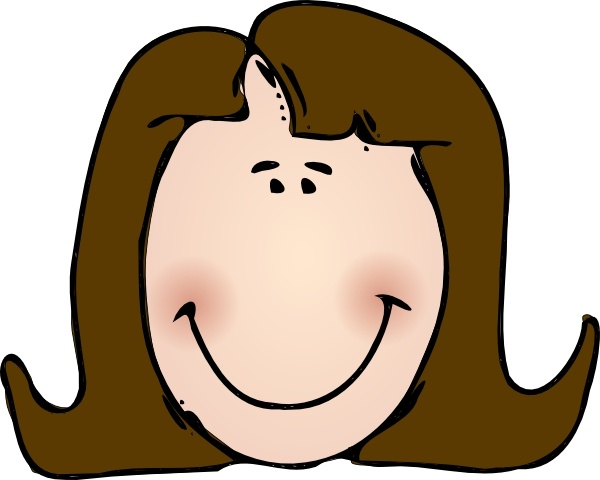 Smiling Lady Face clip art Free vector in Open office.