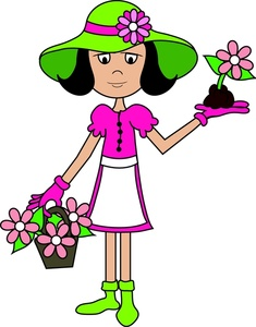 Gardening Clipart Image: Lady.