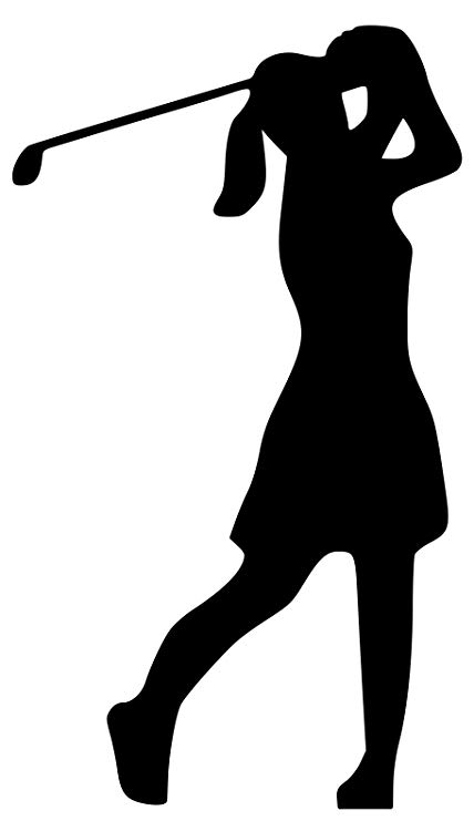 Minglewood Trading Golfer Girl Woman Vinyl Decal Sticker 5\