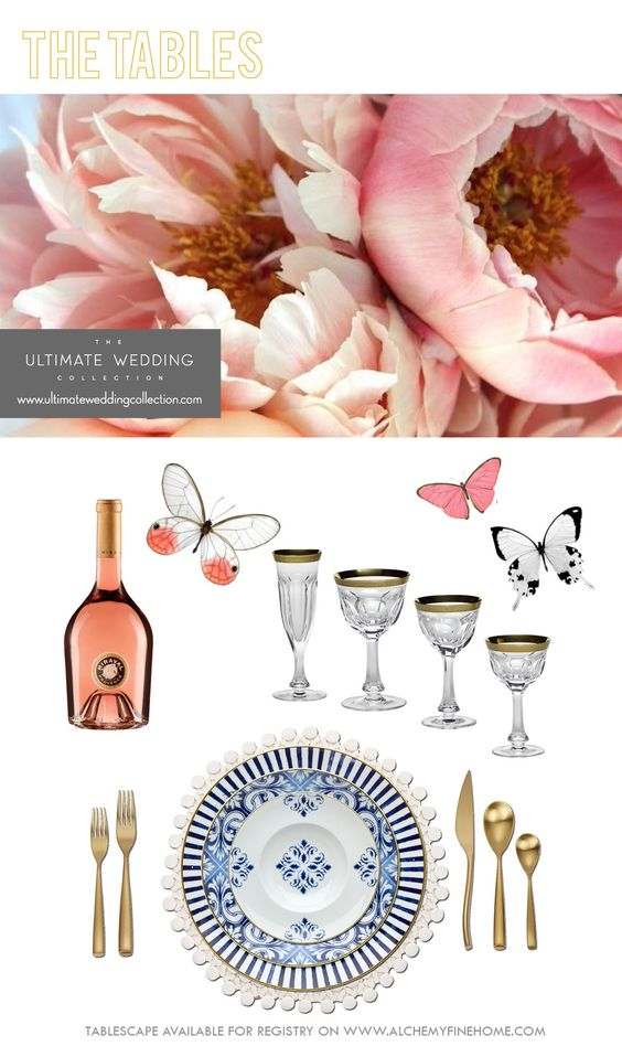 French Riviera Luxury Wedding Tablescape Design with Vista.
