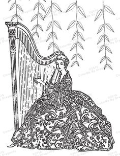 Lady, Flower Lady, Line Art, Flower Clip Art, Flowers,Adult.