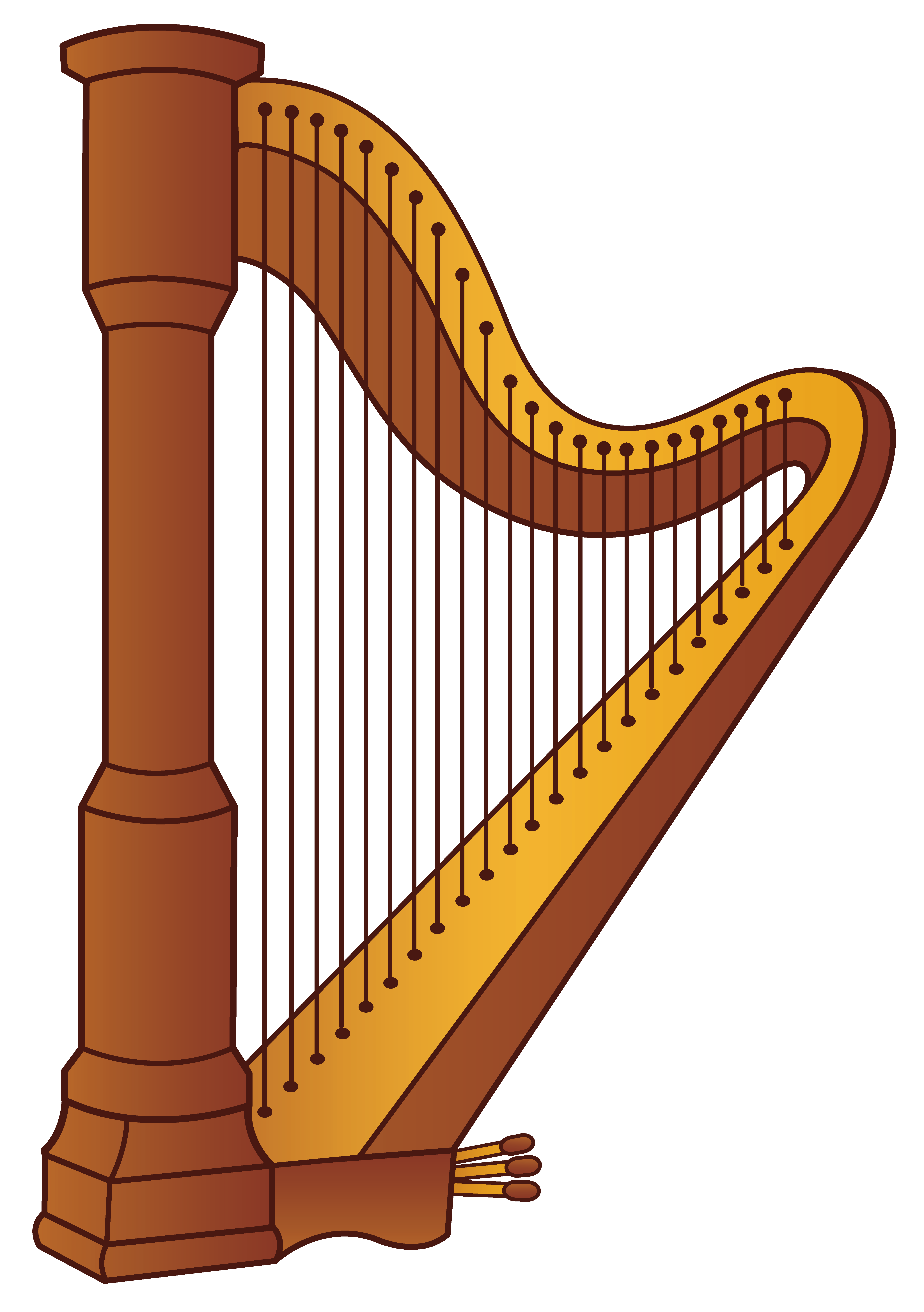 Welsh Harp Clip Art.