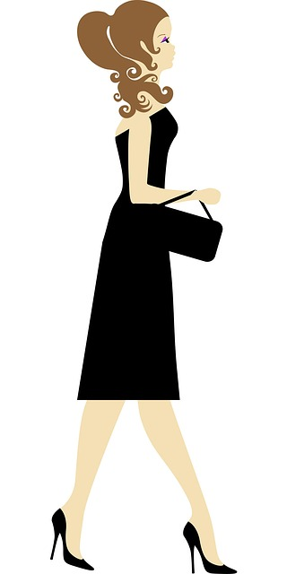 Woman In Dress Clipart.