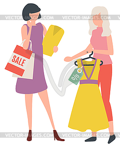 Woman Buying Dress, Lady Shopping, Clothes.