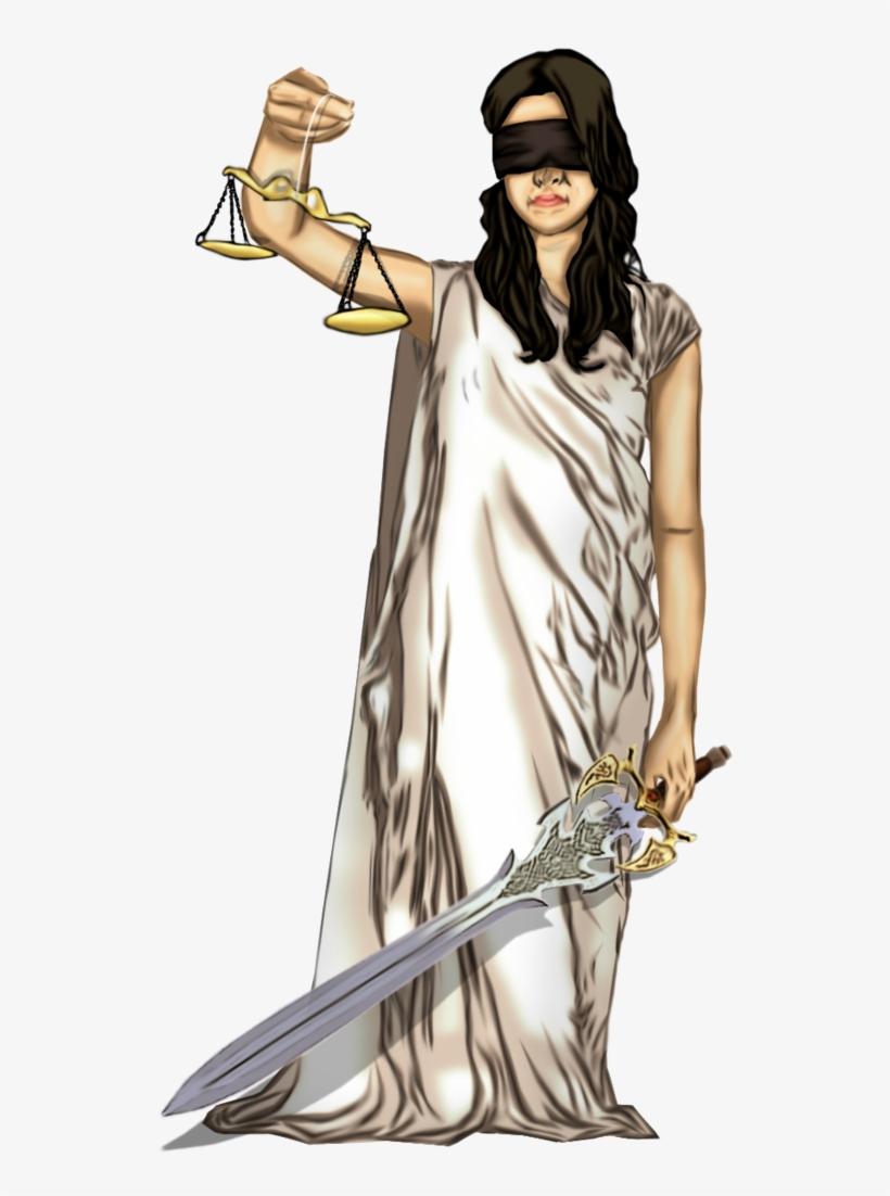 Blind Justice Clip Art.