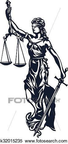 Femida lady justice Clipart.