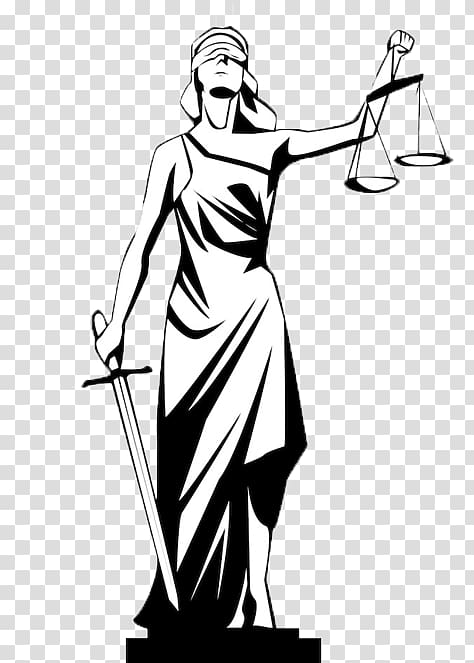 Lady Justice Drawing , symbol transparent background PNG.
