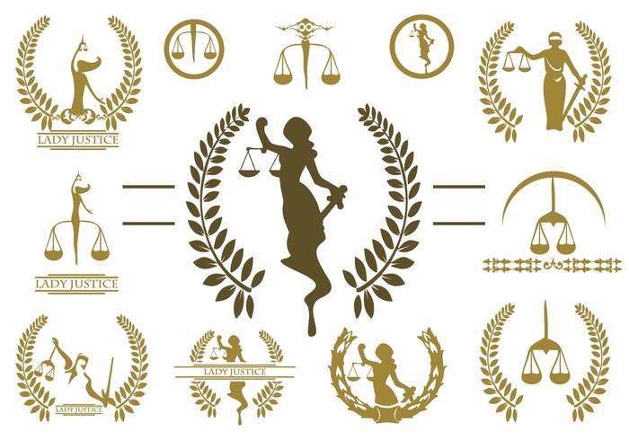 Lady Justice Logo Vector.