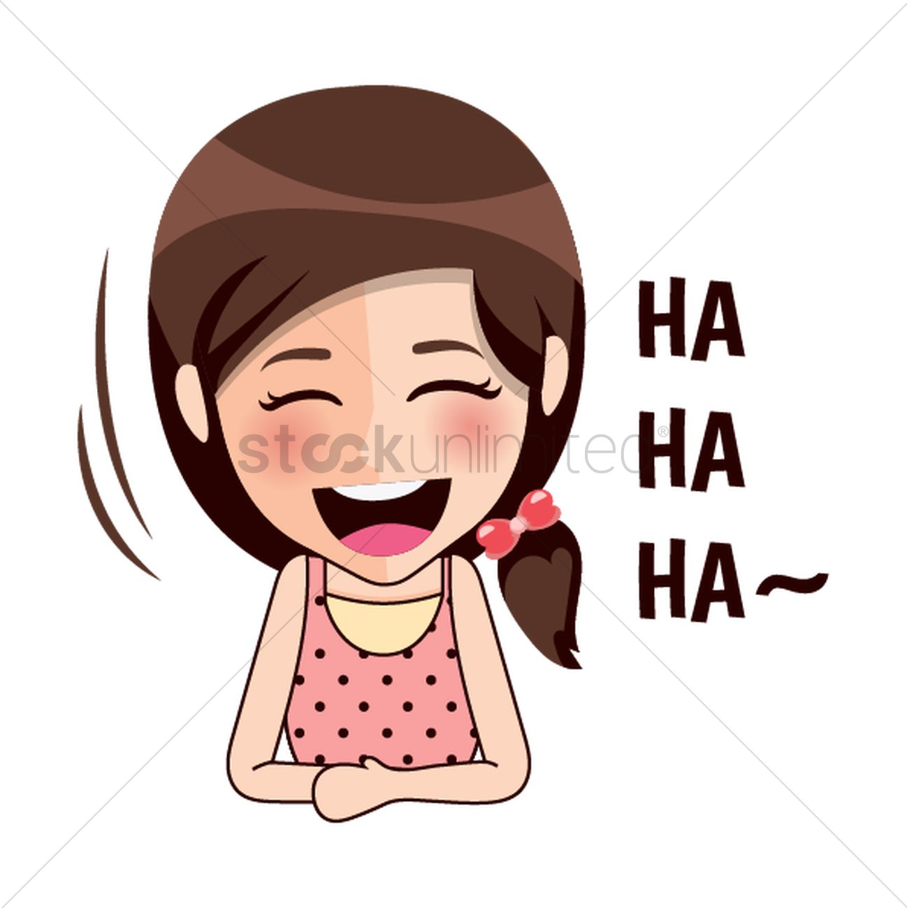 A Girl Laughing Clipart.