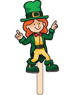 Lady the Leprechaun Shapes Fun.