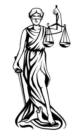 Lady Justice Drawing.