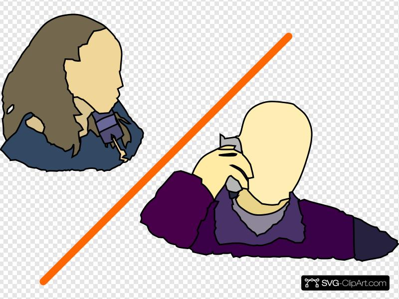 Man Lady Talking On The Phone Clip art, Icon and SVG.