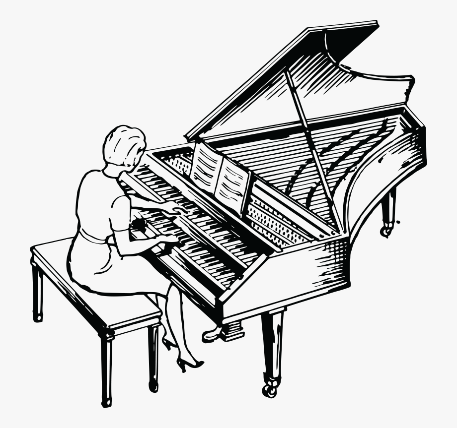 Woman Playing Piano Clipart Ourclipart.