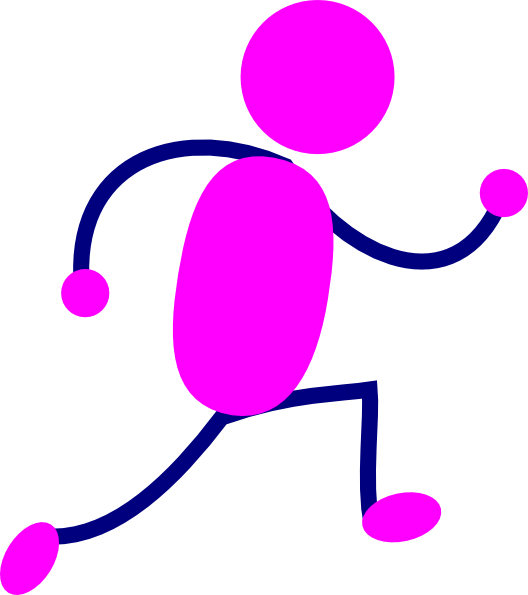 Running Lady Clip Art at Clker.com.
