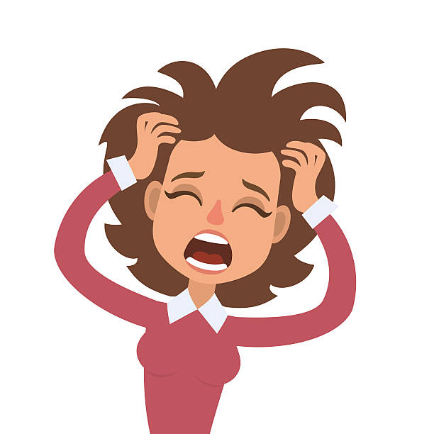 Woman Yelling Clipart.
