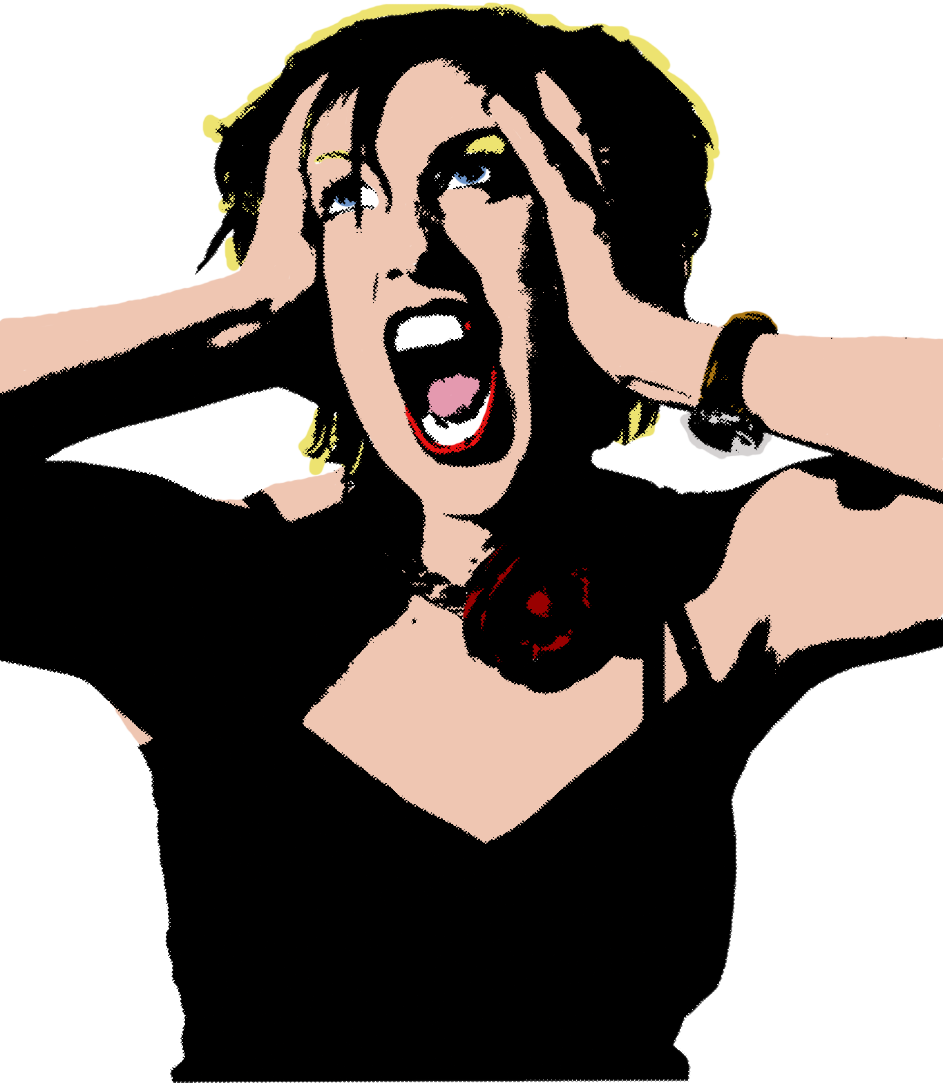 Yelling clipart woman scream, Yelling woman scream.